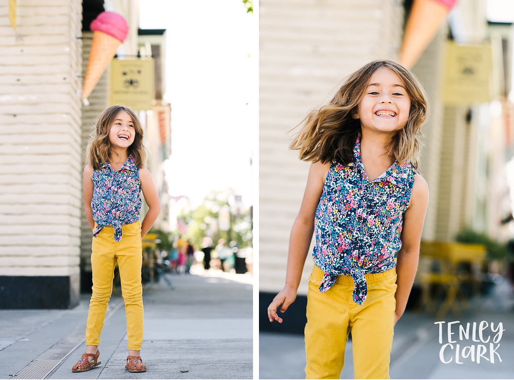 Bay Area colorful and playful lifestyle kids model headshot portfolio session in Fremont by Tenley Clark Photography