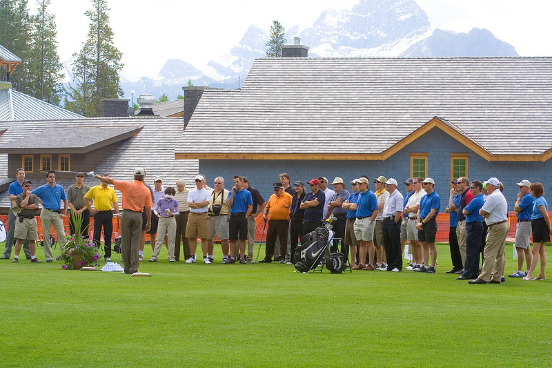 Stephen presented a golf clinic for the participants