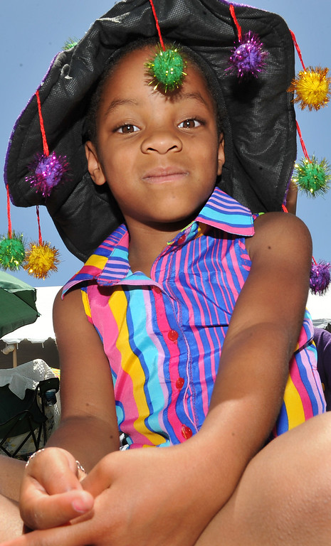 . 6/22/13 - Elysse Townsend, 6, is stylish while enjoying the music  during the  27th Annual Long Beach Bayou and Blues Festival at Rainbow Harbor. Photo by Brittany Murray / Staff Photographer