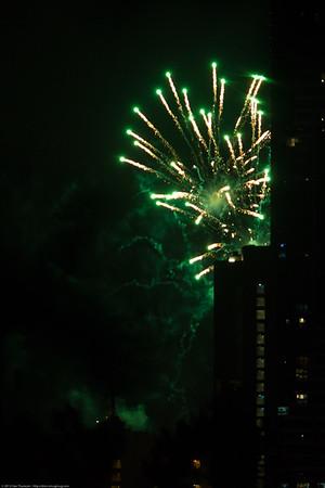 Brisbane Riverfire Festival 2012. Pics taken from inner north Brisbane, Australia. Photos by Des Thureson.