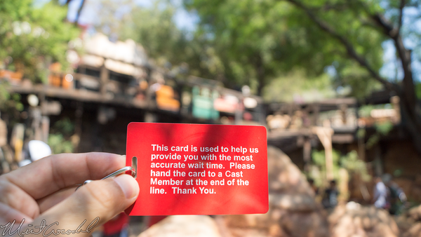 Disneyland Resort, Disneyland, Frontierland, Big, Thunder, Mountain, Railroad, Wait, Time, Card