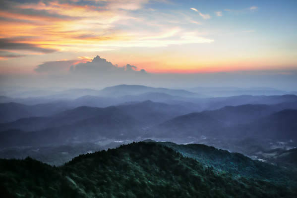 Sunset on Roan Mtn