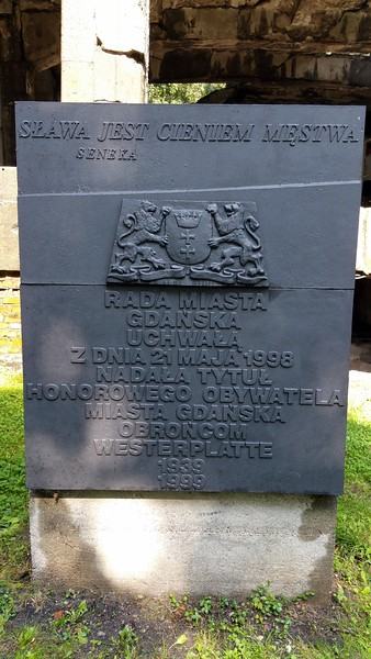 1939 to 1999 commemorative plaque.