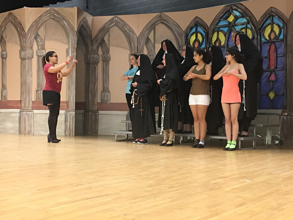". Sandstone Summer Theatre will be performing ""Sister Act\"" 8 p.m. July 13-15 at Amherst Marion L. Steele High School, 450 Washington St., in Amherst. The rehearsal was at the high school on July 5.  (Khadija Smith - The Morning Journal)"