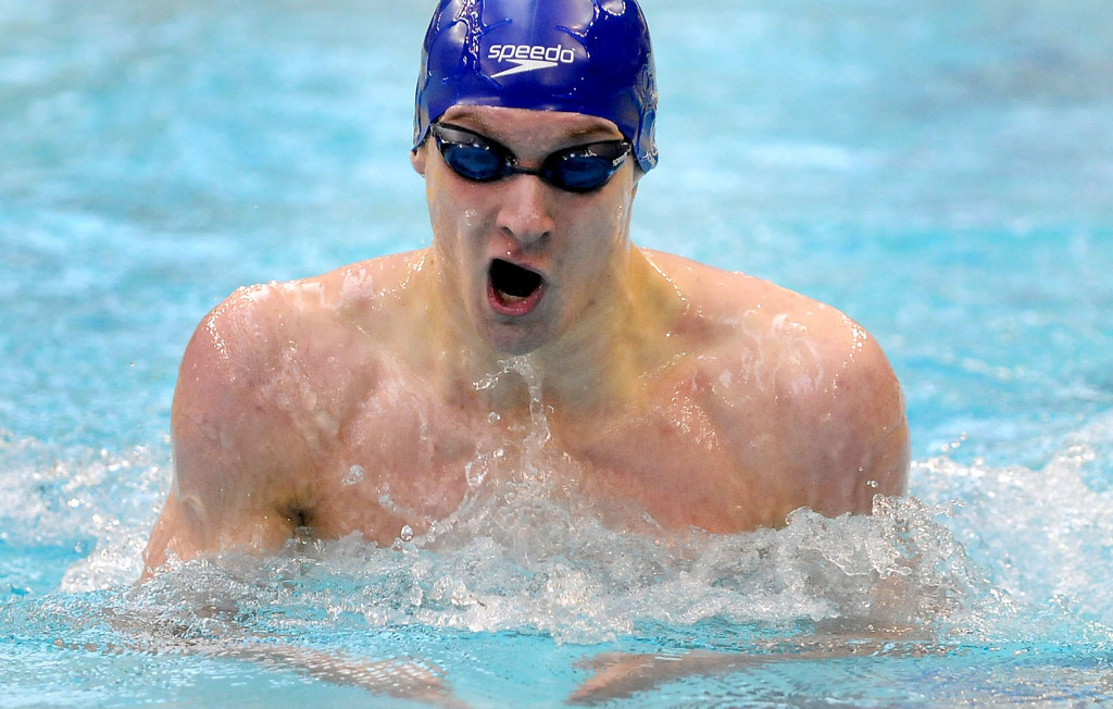 . Saint Thomas Academy\'s Zach Litwin placed third in the 200 Yard IM. (Pioneer Press: Sherri LaRose-Chiglo)