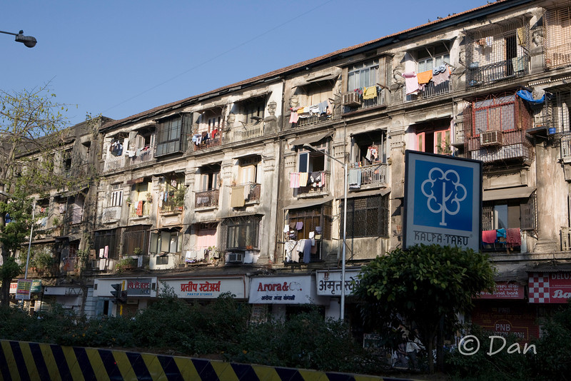 buildings where some locals live