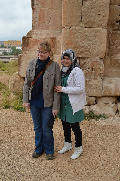 0043__AB and Jordan Schoolgirl at Jerash.JPG