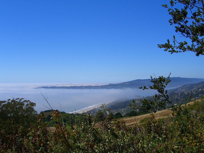 Views of Stinson Beach and Bolinas Mesa from Matt Davis trail