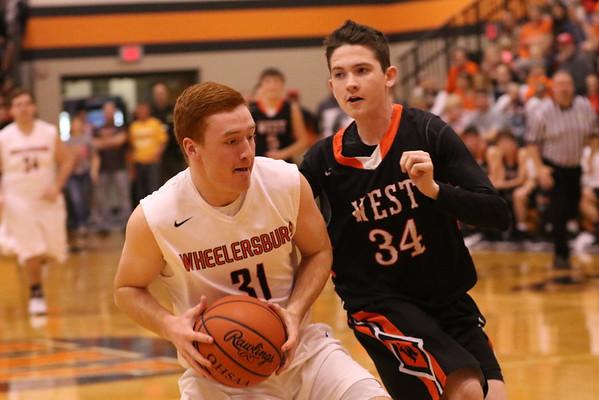 Boys Basketball:  West at Wheelersburg 2017