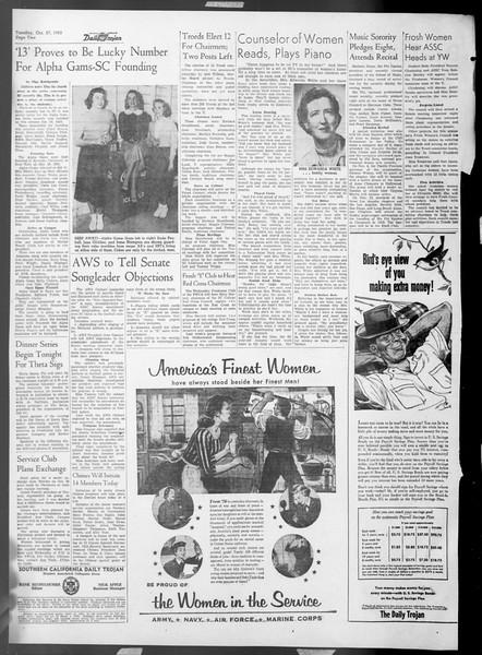 Daily Trojan, Vol. 45, No. 27, October 27, 1953