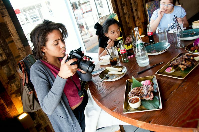 Taking photos at Khong River House