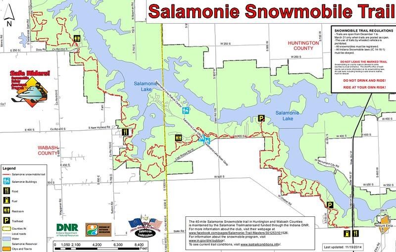 Salamonie Lake (Snowmobile Trail Map)