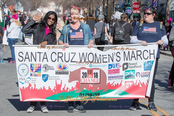 2018 Women's March Santa Cruz California