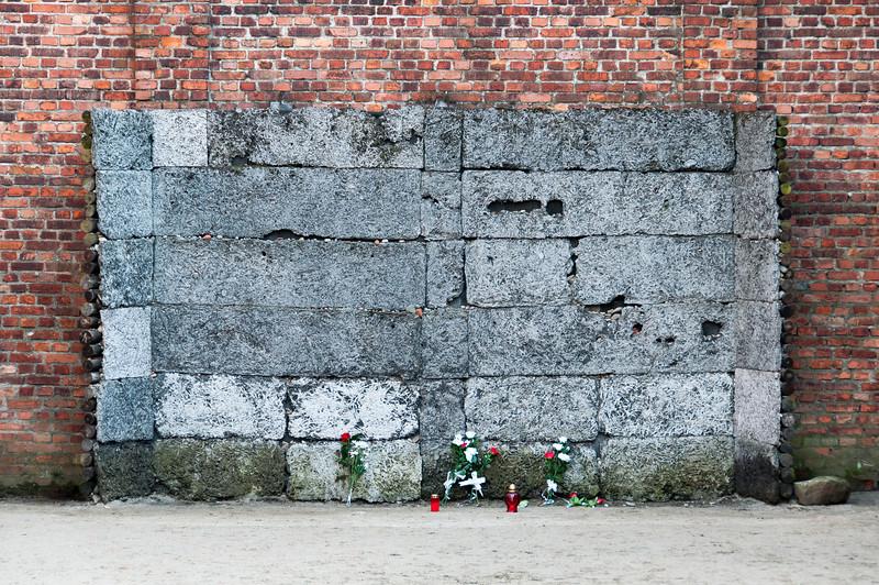 A victims' memorial in Auschwitz Birkenau in Krakow, Poland