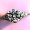 .84ctw Transitional Cut Diamond Filigree Solitaire 22