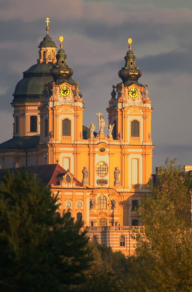 Melk Abbey at Sunset