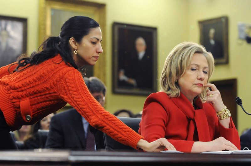 """. <p>10. (tie) HUMA ABEDIN <p>Hillary forcing her to choose between her job and the perv she married. (previous ranking: unranked) <p><b><a href=\'http://www.dailymail.co.uk/news/article-2429620/Clinton-camp-tells-Huma-Dump-Weiner-lose-job-Hillarys-2016-presidential-run-campaign-team.html\' target=\""""_blank\""""> HUH?</a></b> <p>    (Jonathan Ernst/Getty Images)"""