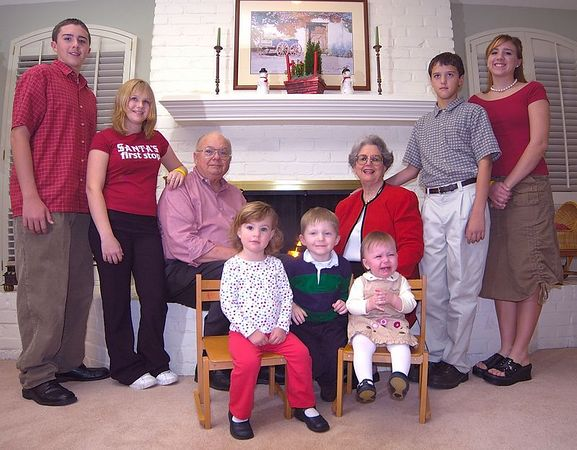 Mom and Dad's Christmas Portrait -- November 28, 2004