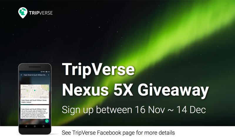 TripVerse Nexus 5X giveaway
