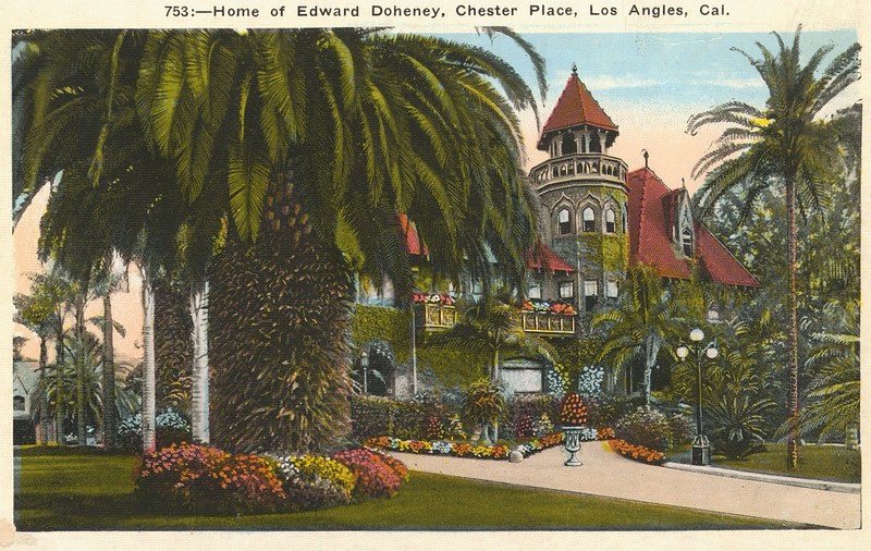 753. Home of Edward Doheney [sic], Chester Place, Los Angeles, California.