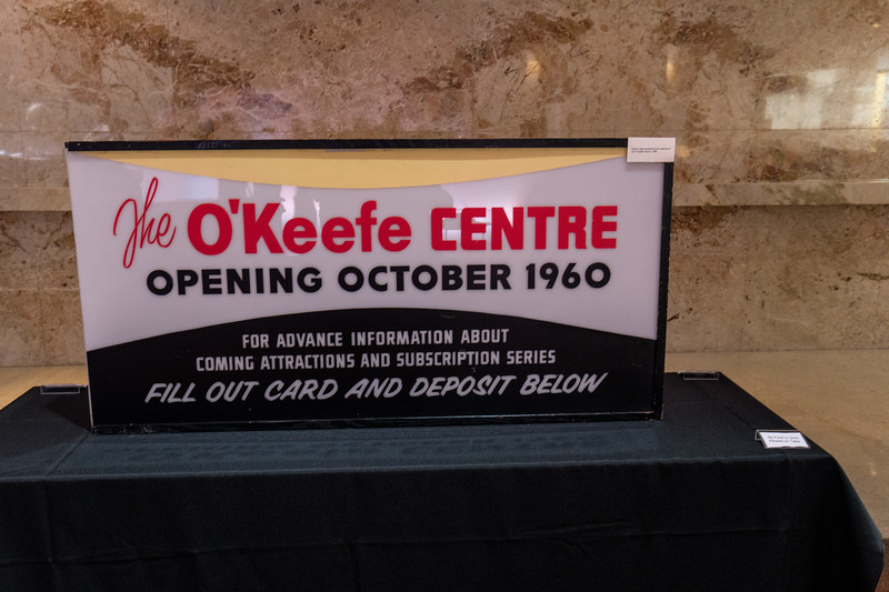 "Original ""O'Keefe Centre"" Sign in Foyer"