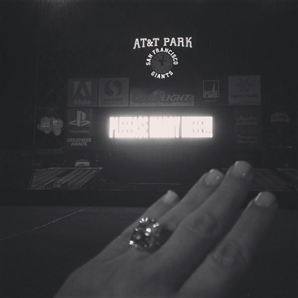 . Kim Kardashian\'s engagement ring from Kanye West.   (Instagram)