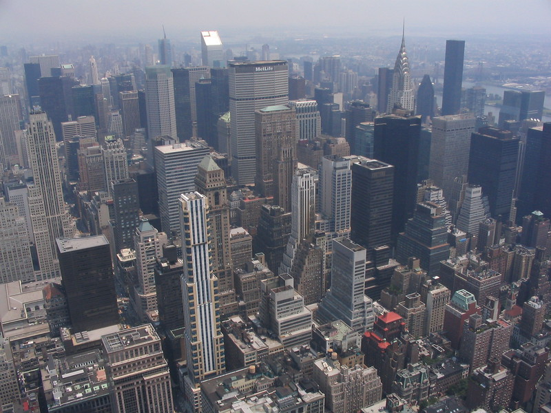 View of the city from the Empire State Building