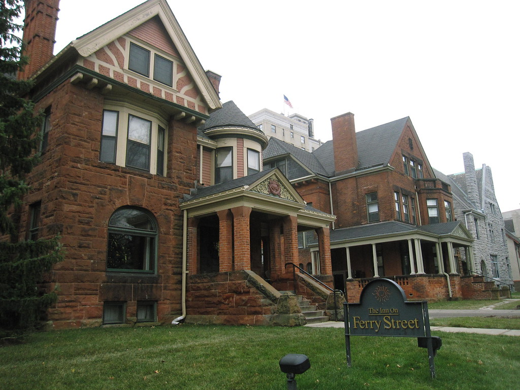 . This Dec. 3, 2014 photo shows The Inn on Ferry Street in Detroit�s Midtown neighborhood. The bed-and-breakfast is located in four restored Victorian homes and two carriage houses on a block in a historic district in the Midtown neighborhood, which is experiencing a resurgence despite Detroit�s financial troubles. The Detroit Institute of Arts and Wayne State University are nearby. (AP Photo/Beth J. Harpaz)