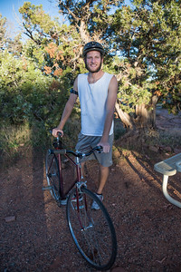 Randy Rides Up the Colorado National Monument