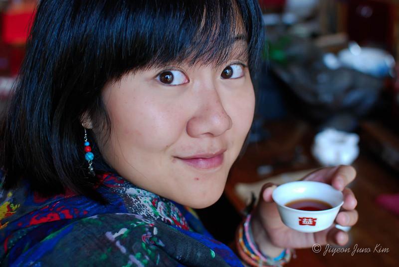 Me and Pu-er tea tasting in Menghai