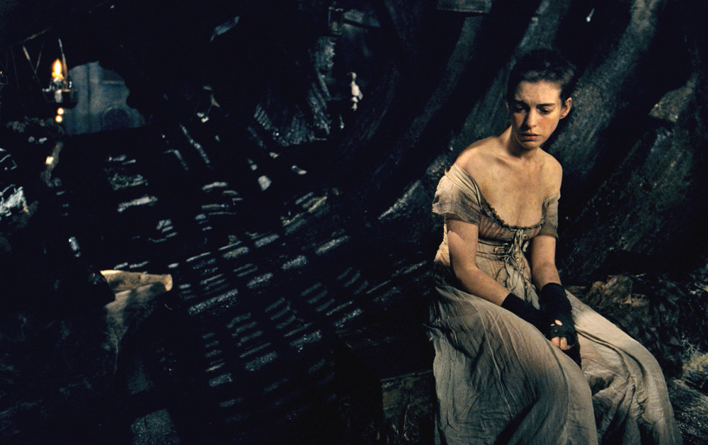 Description of . This image released by Universal Pictures shows Anne Hathaway as Fantine in a scene from