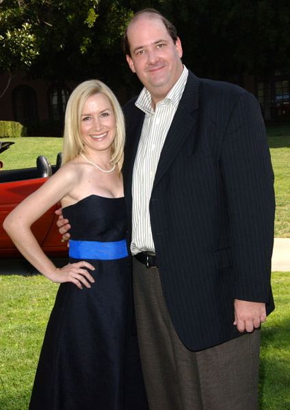 The Office Angela Kinsey Brian Baumgartner NBC Summer Press Day 2007