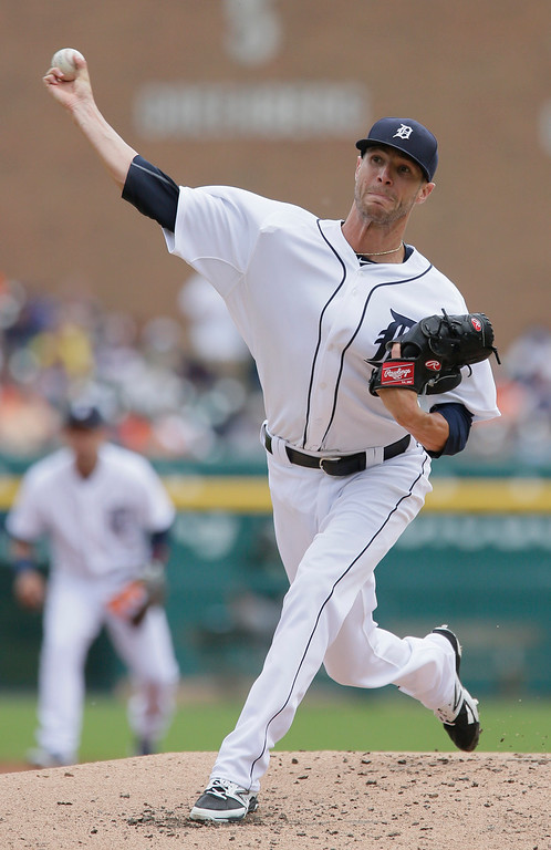 . Detroit Tigers pitcher Shane Greene delivers against the Oakland Athletics during the second inning of a baseball game at Comerica Park Thursday, June 4, 2015, in Detroit. (AP Photo/Duane Burleson)