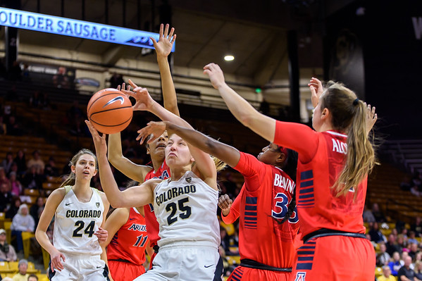 PAC12 - Women's Basketball - CU vs Arizona - 20171231