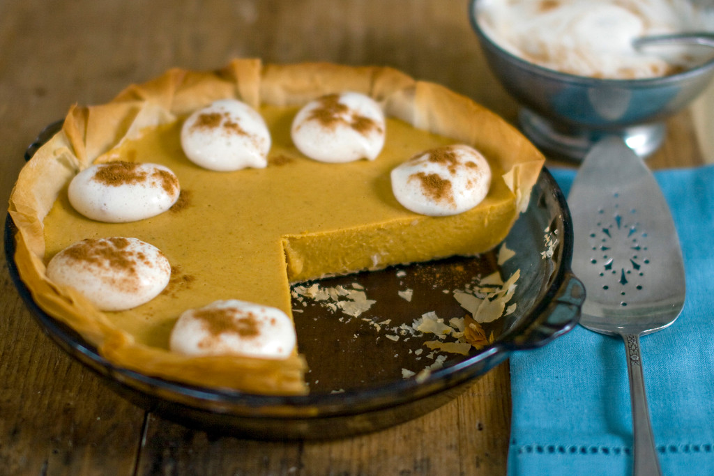 """. <a href=\""""http://www.nwitimes.com/niche/shore/food-and-drink/rocco-dispirito-gives-thanks-with-pumpkin-pie/article_00b75d56-ef6c-5991-b833-d7d30d5f2a86.html\"""">Get Rocco DiSpirito\'s recipe for pumpkin pie with whipped cream</a> (AP Photo/Matthew Mead)"""