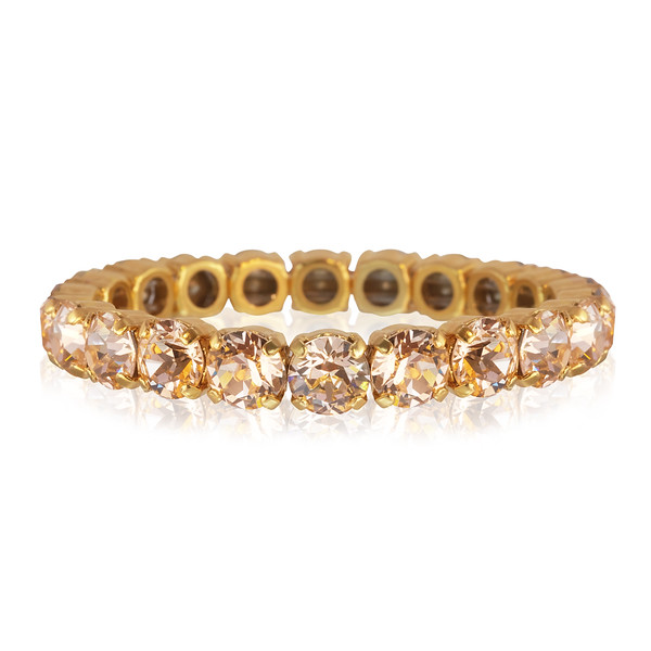 Gia Stretch Bracelet / Light Peach