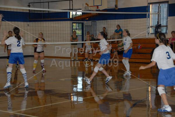 7th -8th volleyball v. stockton 9.16.09