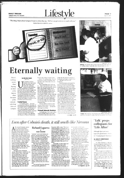 Daily Trojan, Vol. 151, No. 50, April 06, 2004