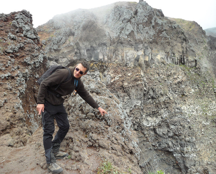 """Our Volcano guide - """"That's the volcano"""""""
