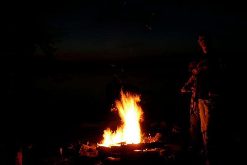 Marshmallows! Campsite 15-15, lac Poulter, La Vérendrye Wildlife Reserve