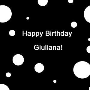 Giuliana's Birthday