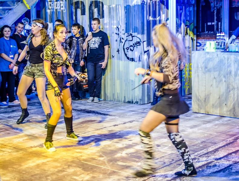 Girls fight at Igromir 2012