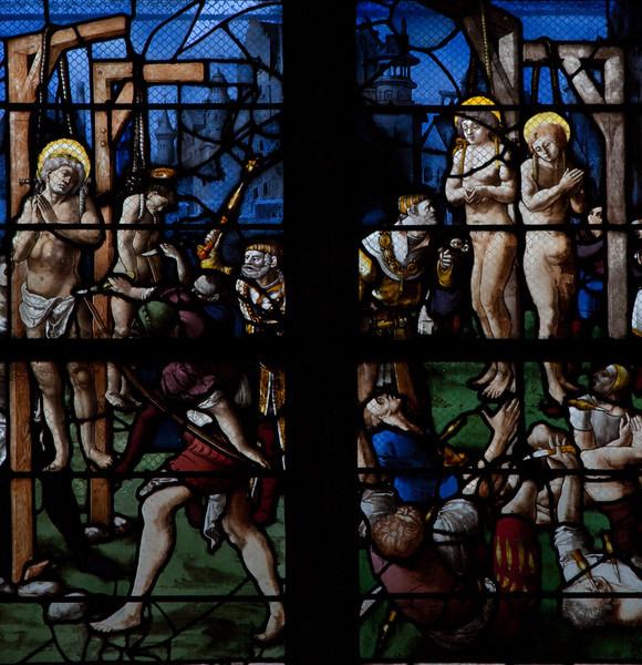 Gisors, Saint-Gervais-Saint-Protais Church, The Martyrdom of Saint Crepin and Saint Crepinen