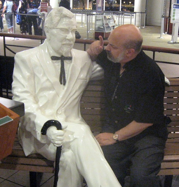Before I leave Kentucky, a word with the Colonel about those chickens ...
