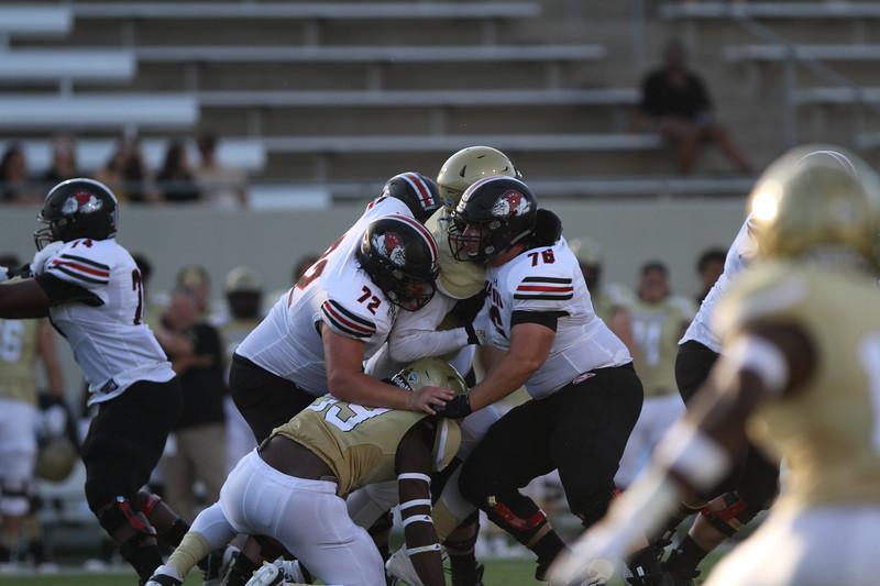 Gardner-Webb football team gives their all against Wofford College at Gibbs Stadium in Spartanburg, South Carolina.