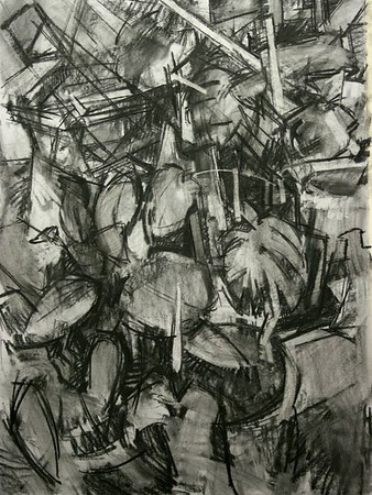 CHARCOAL STILL LIFE DRAWINGS