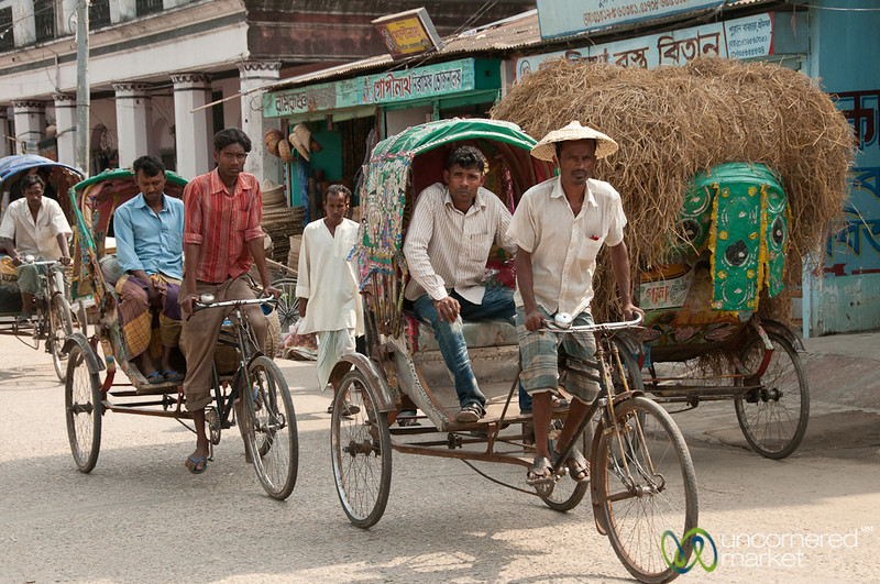 Bicycle Rickshaws on Streets of Srimongal, Bangladesh