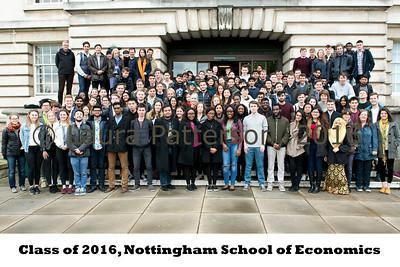 Class of 2016, Nottingham School of Economics