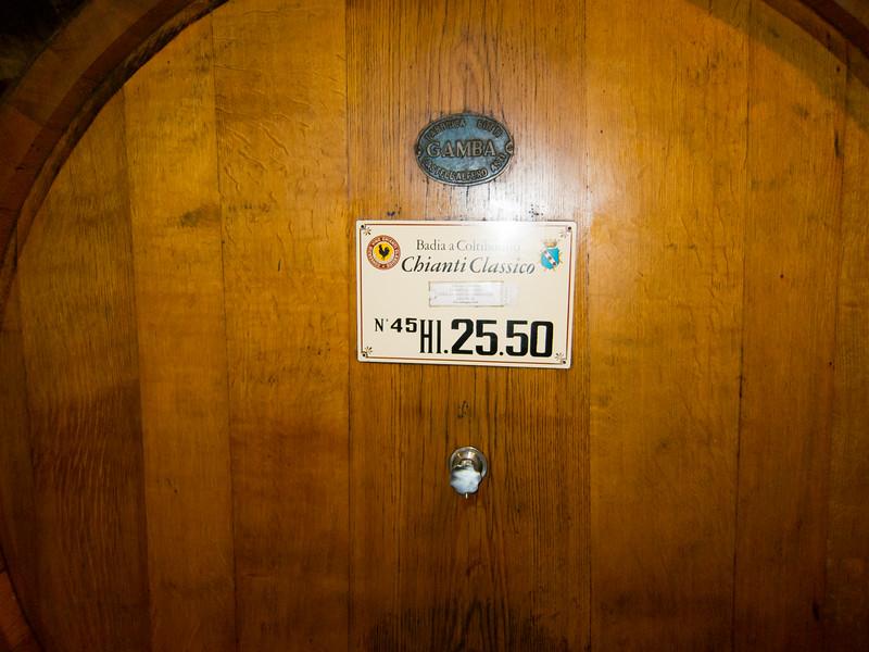 25.5 Hectoliters of wine. (674 g)