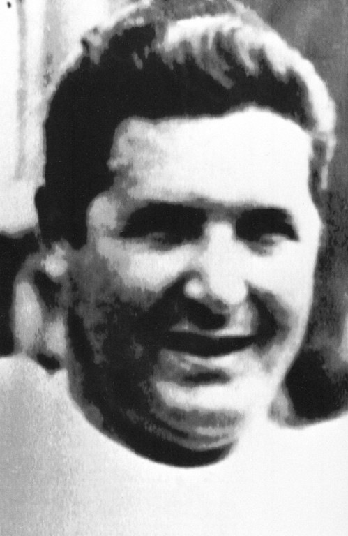 . FILE - This undated black and white file photo shows Mafia boss Salvatore Riina. Italian media reported Friday, Nov. 17, 2017 that Riina died at the age of 87 in the hospital while serving multiple life sentences as the mastermind of a bloody strategy to assassinate Italian prosecutors and law enforcement trying to bring down the Cosa Nostra. (AP Photo/files)